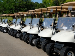 Line Up Of Golf Carts